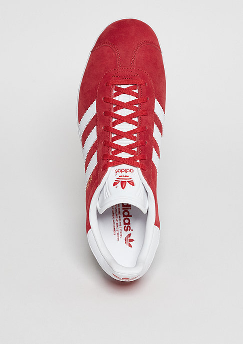 adidas Gazelle scarlet/white/gold metallic