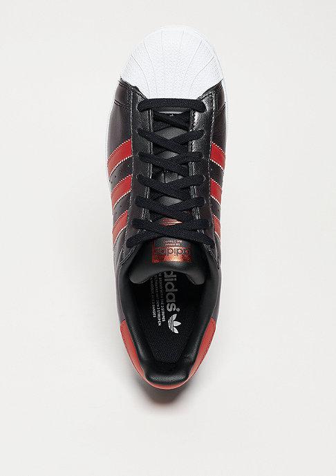 adidas Laufschuh Superstar core black/collegiate red/collegiate red