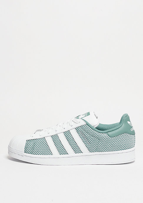 adidas Superstar white/white/vapour green