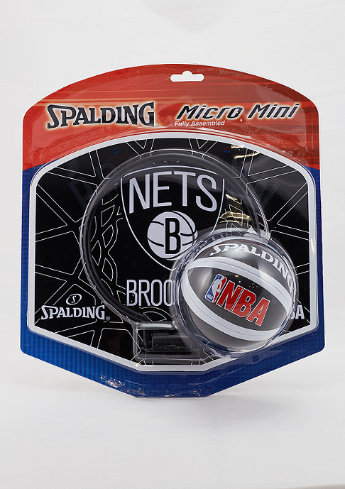 Spalding NBA Miniboard Brooklyn Nets black/white