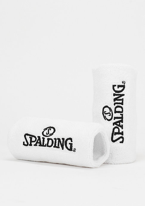 Spalding Schweißband 2er white