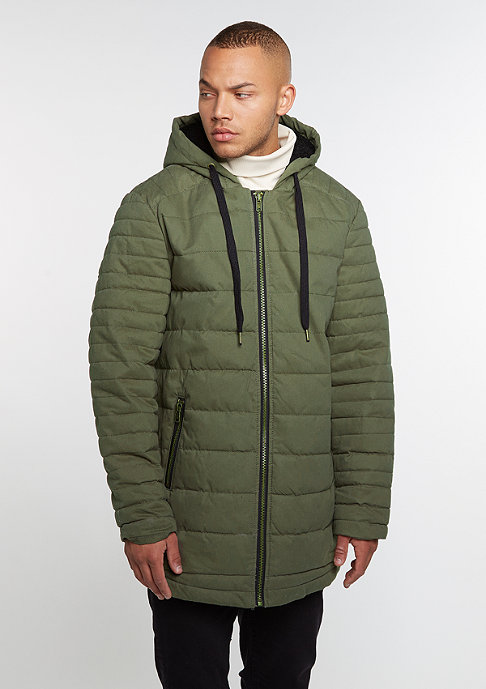 Future Past Quilted Parka olive