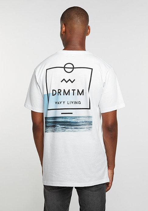 DRMTM DRMTM Tee Wavy Living white
