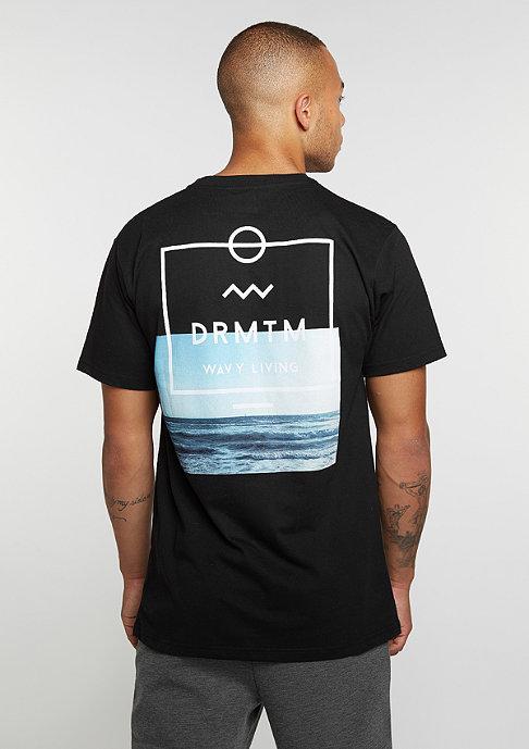 DRMTM T-Shirt Wavy Living black