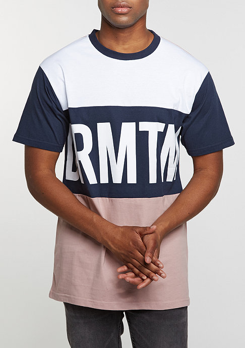 DRMTM T-Shirt Block rose/navy
