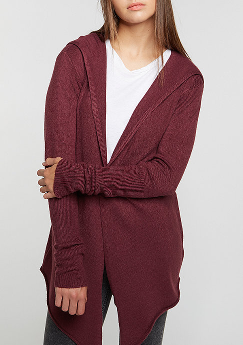 Flatbush Knit Cardigan bordeaux