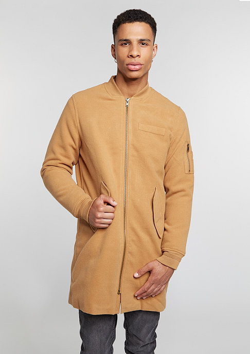 Flatbush Long Wool Bomber camel