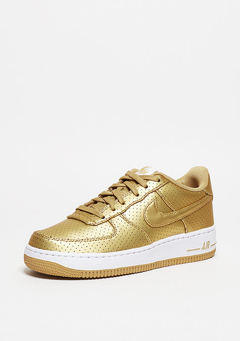 NIKE Basketballschuh Air Force 1 LV8 GS metallic gold/metallic gold/summit white