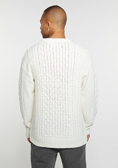 DRMTM Strickpullover Knit Crew Oversized off white