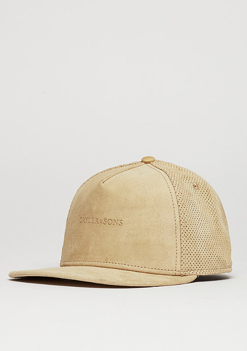 Cayler & Sons Snapback-Cap BL Apache brown suede/gold