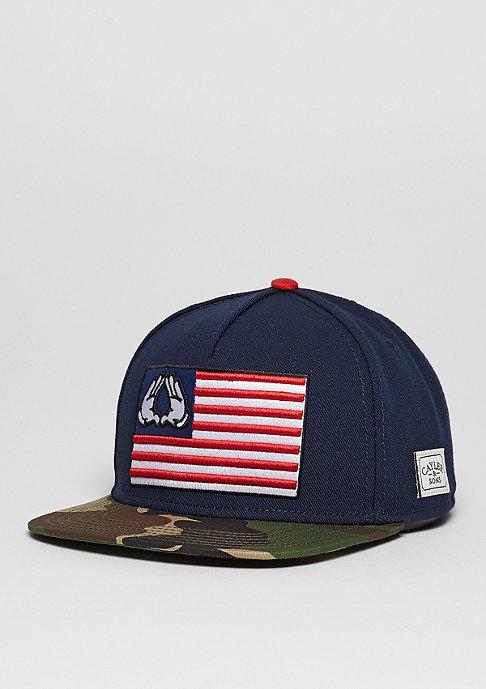 Cayler & Sons Snapback-Cap WL Salute navy/woodland