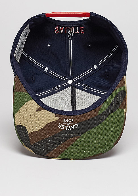 Cayler & Sons C&S Cap WL Salute navy/woodland
