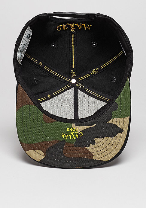 Cayler & Sons Snapback-Cap WL Dolla Dolla black/yellow/woodland