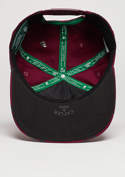 Cayler & Sons C&S CAP GL Best Budz maroon/black