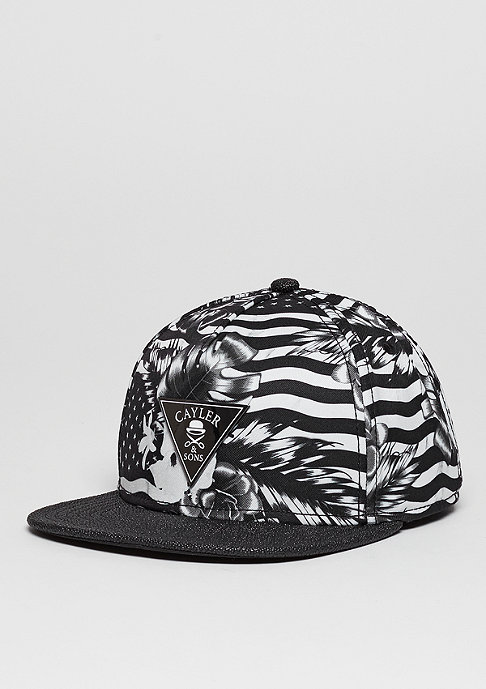 Cayler & Sons C&S Cap GLD Flagged black/white