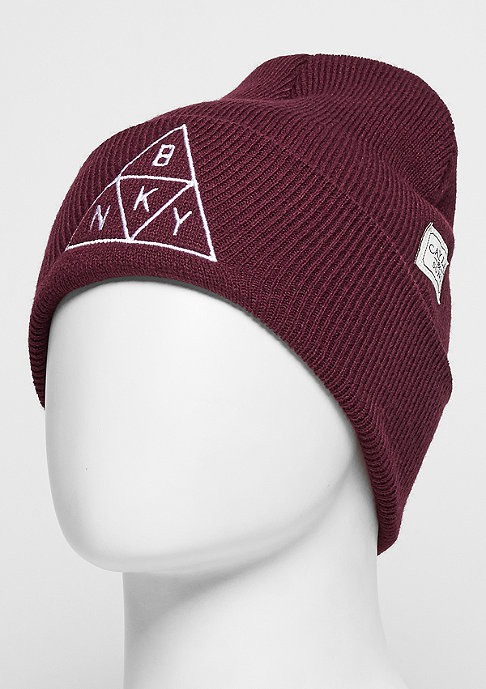 Cayler & Sons C&S WL Beanie Briangle Old School maroon/white