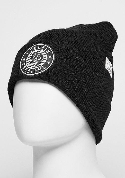 Cayler & Sons Beanie WL FCKN Problems Old School blach/white