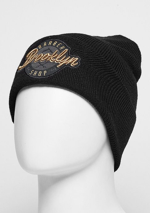 Cayler & Sons Beanie CL BK Barber Old School black/gold