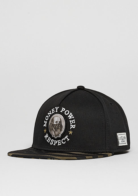 Cayler & Sons Snapback-Cap WL Money Power Respect black/gold/white