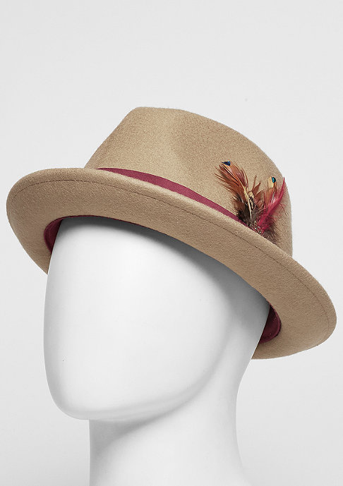 Cayler & Sons C&S Bucket Hat CL Classy Fedora dune/maroon