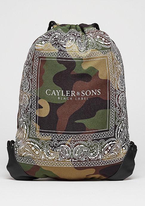 Cayler & Sons Turnbeutel BL Gymbag Paiz woodland/white
