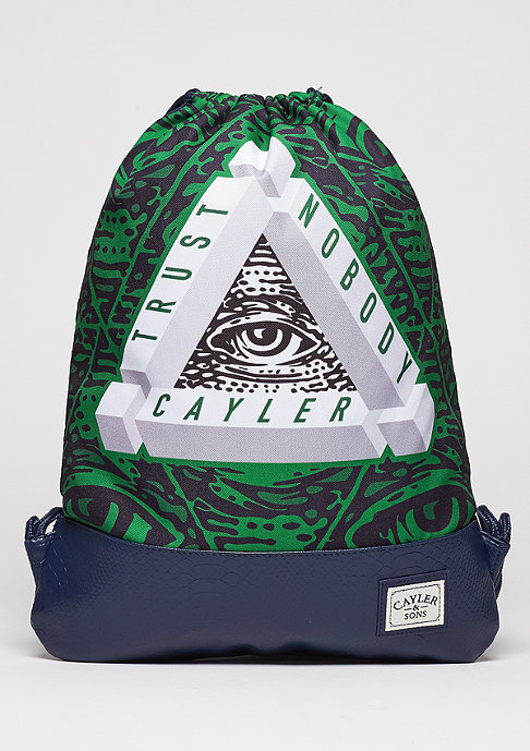 Cayler & Sons Turnbeutel WL Gymbag Triangle of Trust navy/green/white