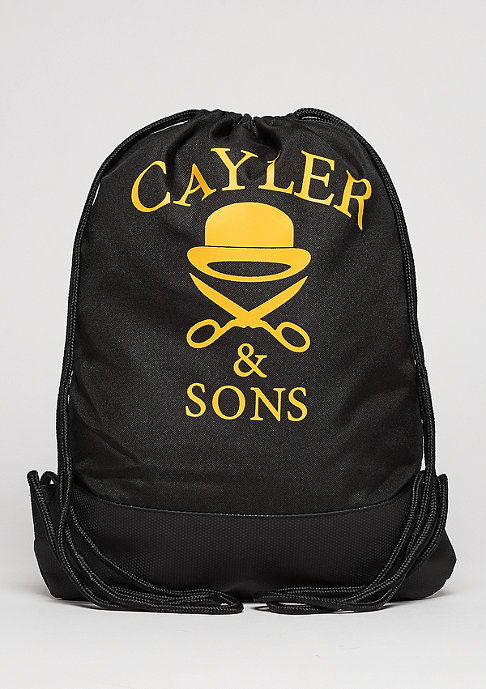 Cayler & Sons Turnbeutel WL Gymbag Forever black/woodland/yellow