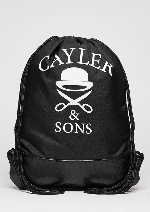 Cayler & Sons Turnbeutel WL Gymbag No. 1 white marble/black