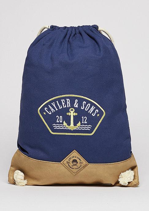 Cayler & Sons Turnbeutel CL Gymbag Ahoi navy/gold