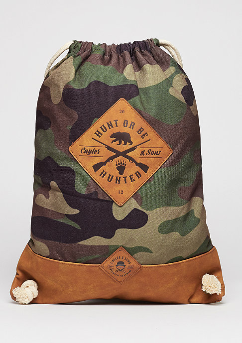 Cayler & Sons Turnbeutel CL Gymbag Hunting woodland/brown/white