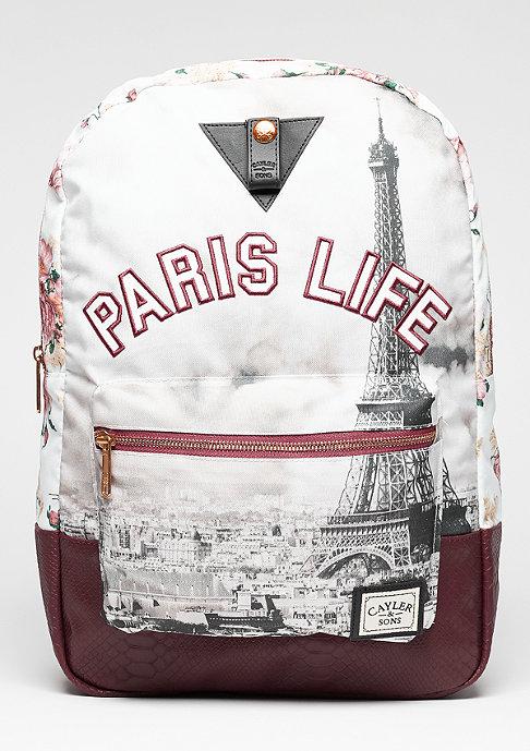 Cayler & Sons Rucksack Paris Life Uptown maroon/mc
