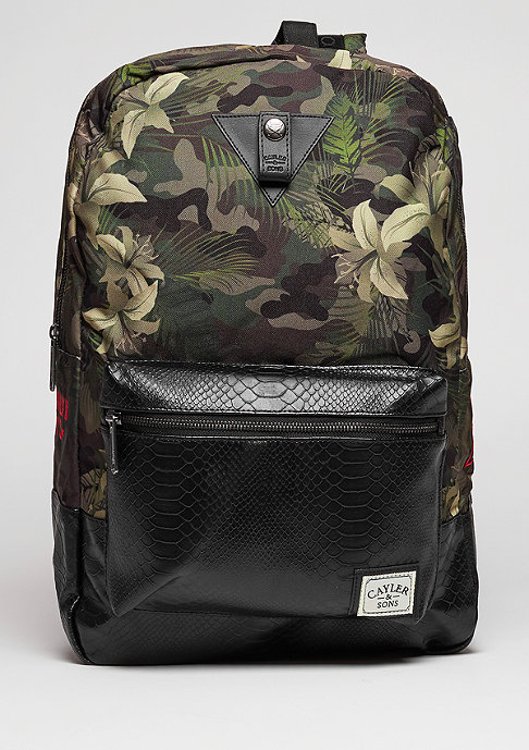 Cayler & Sons C&S WL Backpack BKNY Uptown black/woodland flowers