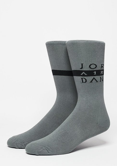 JORDAN Seasonal Print Crew cool grey/black