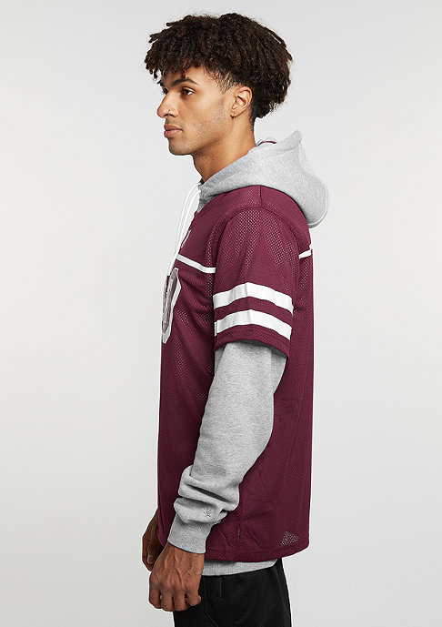 Cayler & Sons Hooded-Sweatshirt GL Hoody Fo Twenny grey heather/maroon/white