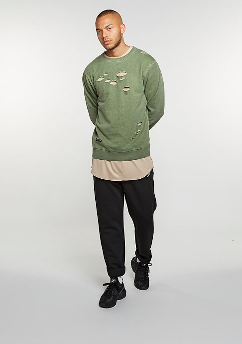 Cayler & Sons C&S BL Crew Ripped olive/olive