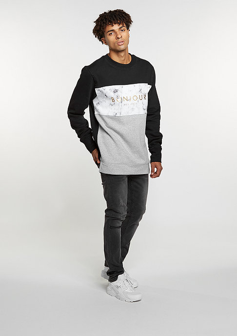 Cayler & Sons Sweatshirt WL Crew Bonjour Long black/grey heather/marble