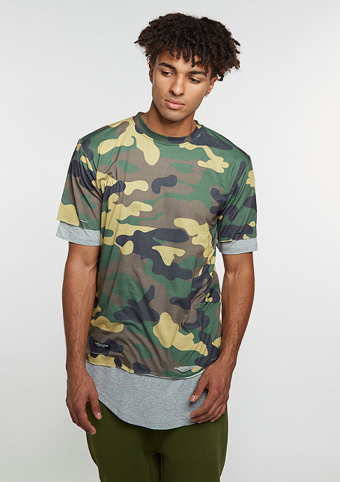 Cayler & Sons T-Shirt BL Deuces Long Layer woodland/grey heather