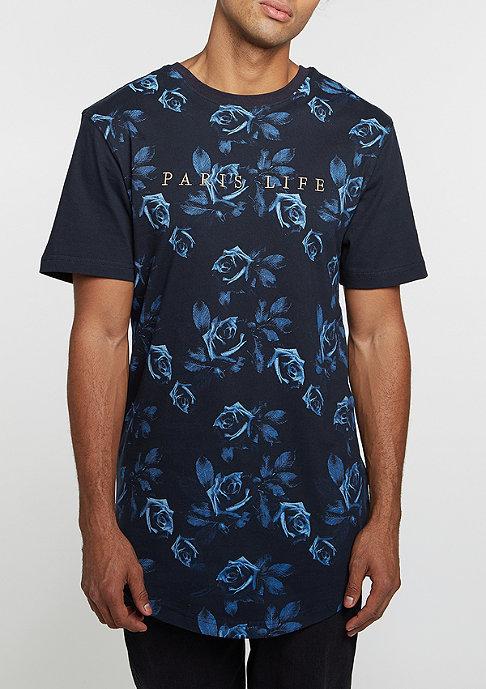 Cayler & Sons T-Shirt WL Paris Life Scallop navy heather/gold