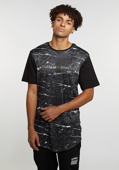 Cayler & Sons C&S WL Tee Infinity Scallop black marble/black/gold