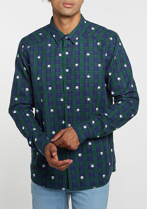 Cayler & Sons Hemd BL Shirt Budz navy/green/white