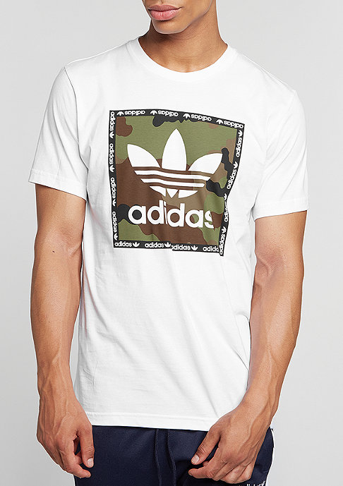 adidas T-Shirt Camo Box white