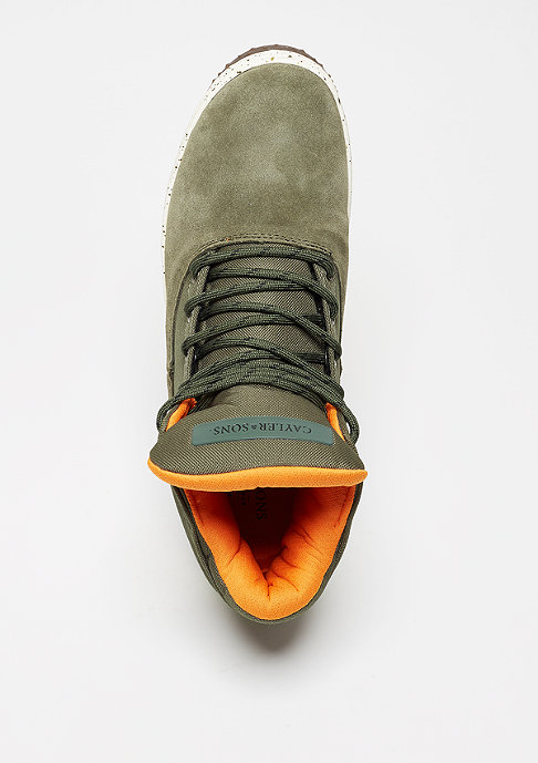 Cayler & Sons Schuh Shutdown army green/flight orange/cream