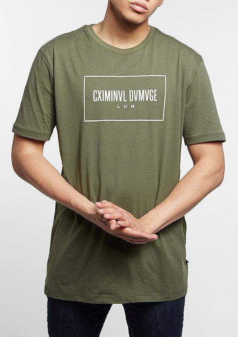 Criminal Damage T-Shirt November olive/white