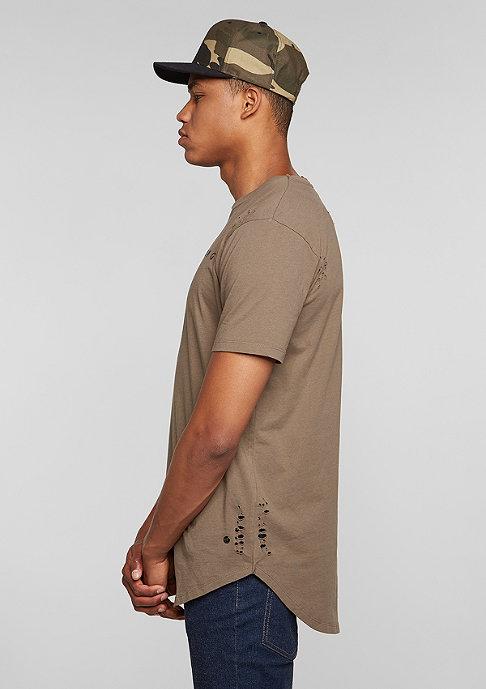 Criminal Damage T-Shirt Shoreditch mushroom/brown