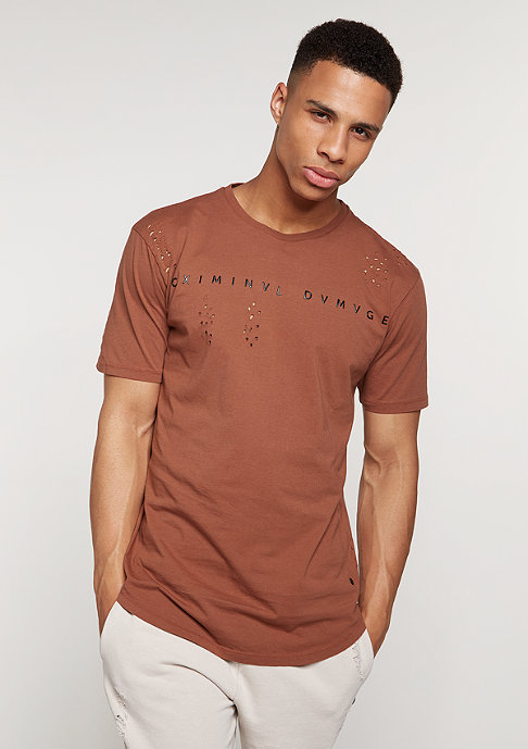 Criminal Damage T-Shirt Shoreditch rust/rust