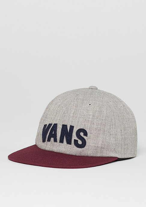 VANS Strapback-Cap Tag Unstructured heather grey/port royale