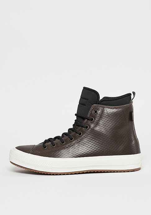 Converse CTAS II Leather Hi dark chocolate/black/egret