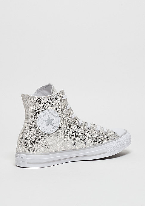 Converse CTAS Leather Hi pure silver/black/white