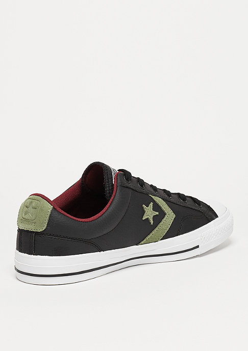 Converse Schuh CONS Star Player Ox black/fatigue green/red block