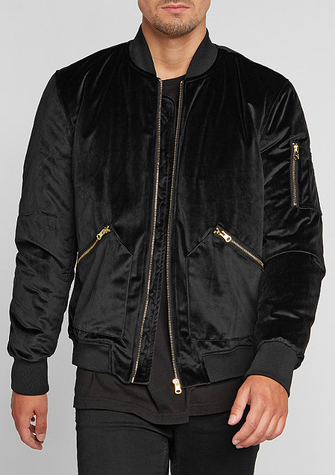 Future Past Jacke Velvet Bomber black